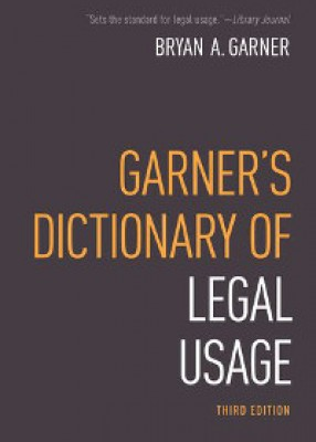Garner's Dictionary of Legal Usage (3ed)