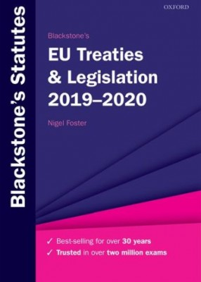 Blackstone's EU Treaties & Legislation 2019-20