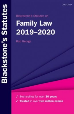 Blackstone's Statutes on Family Law 2019-2020