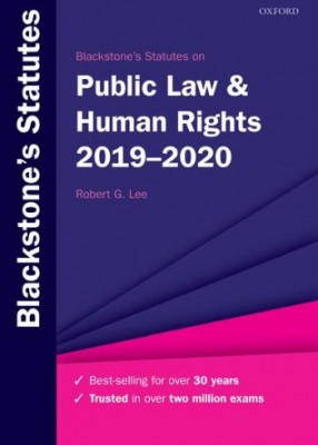 Blackstone's Statutes on Public Law & Human Rights 2019-20