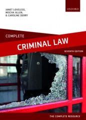 Complete Criminal Law: Text, Cases and Materials (7ed)
