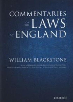 Oxford Edition of Blackstone Commentaries on the Laws of England (Set of 4 Volumes)