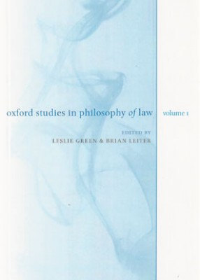Oxford Studies in Philosophy of Law: Volume 1