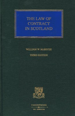 McBryde Law of Contract in Scotland (3ed)