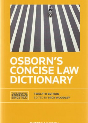 Osborn's Concise Law Dictionary (12ed)
