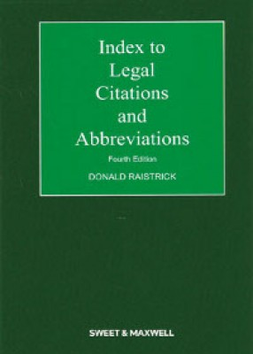 Index to Legal Citations & Abbreviations (4ed)