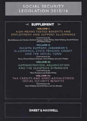 Social Security Legislation Supplement to Volumes 1-4 2015-16