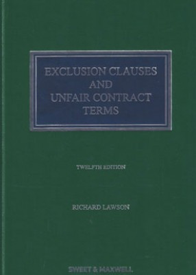 Exclusion Clauses and Unfair Contract Terms (12ed)