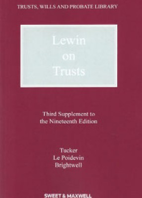 Lewin on Trusts (3rd Supplement to 19ed)