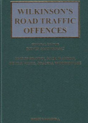 Wilkinson's Road Traffic Offences (28ed) Main work and supplement