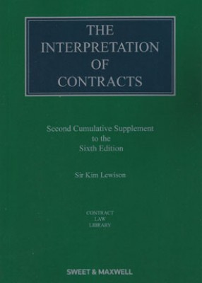 Interpretation of Contracts (2nd supplement to 6ed)