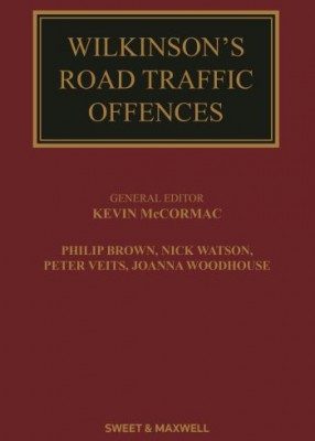 Wilkinson's Road Traffic Offences (29ed)