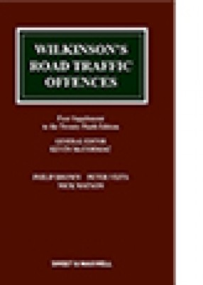 Wilkinson's Road Traffic Offences (29ed) First supplement