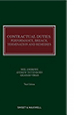 Contractual Duties: Performance, Breach, Termination and Remedies (3ed)