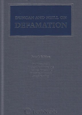 Duncan and Neill on Defamation (4ed)