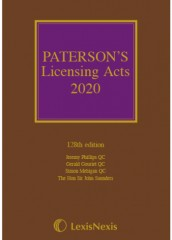 Paterson's Licensing Acts 2020 Including CD-ROM