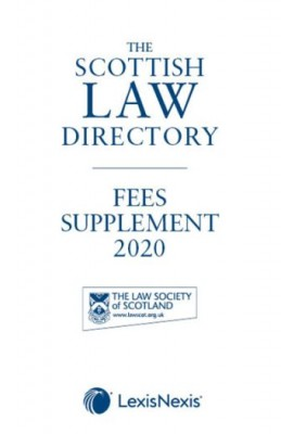 Scottish Law Directory 2020 (White Book) Fees Supplement