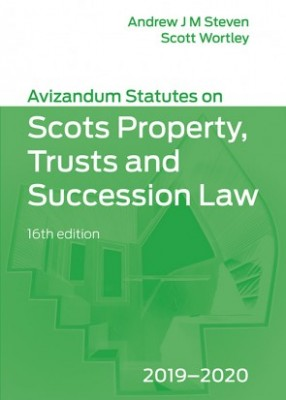 Avizandum Statutes on the Scots Law of Property, Trusts & Succession (16ed) 2019-2020
