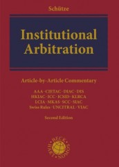 Institutional Arbitration: A Commentary (2ed)