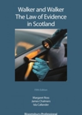 Walker & Walker's Law of Evidence in Scotland (5ed)