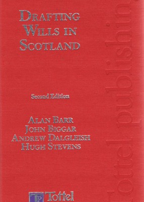 Drafting Wills in Scotland (2ed)