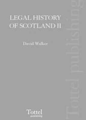 Legal History of Scotland: Vol 2 Later Middle Ages
