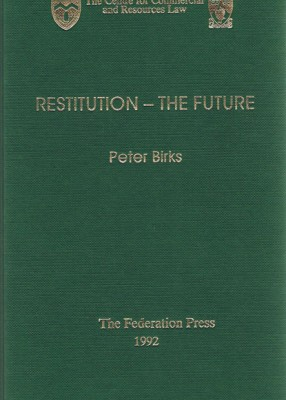 Restitution: the Future