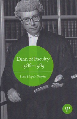 Dean of Faculty 1986-1989: Lord Hope's Diaries