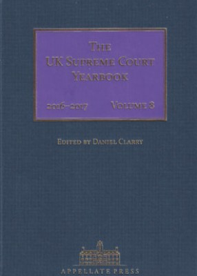 UK Supreme Court Yearbook Volume 8: 2016-17
