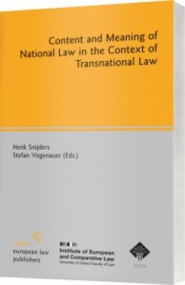 Content and Meaning of National Law in the Context of Transnational Law