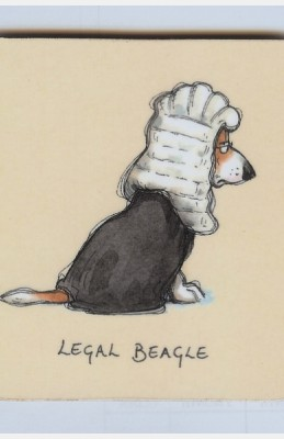 Legal Beagle coaster